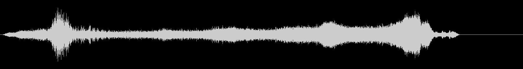 タイムワープの未再生の波形