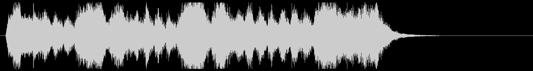 金管の荘厳なファンファーレの未再生の波形