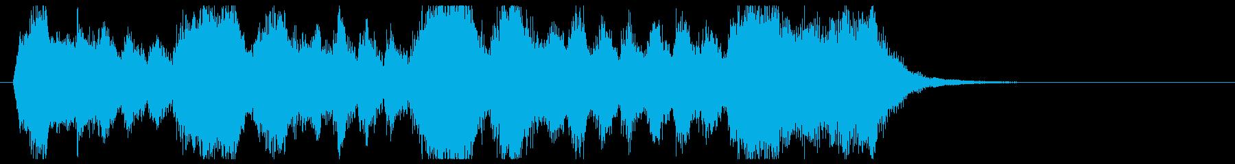 金管の荘厳なファンファーレの再生済みの波形