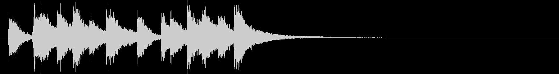 韓国の派手なアジアンシンバルのフレーズ音の未再生の波形