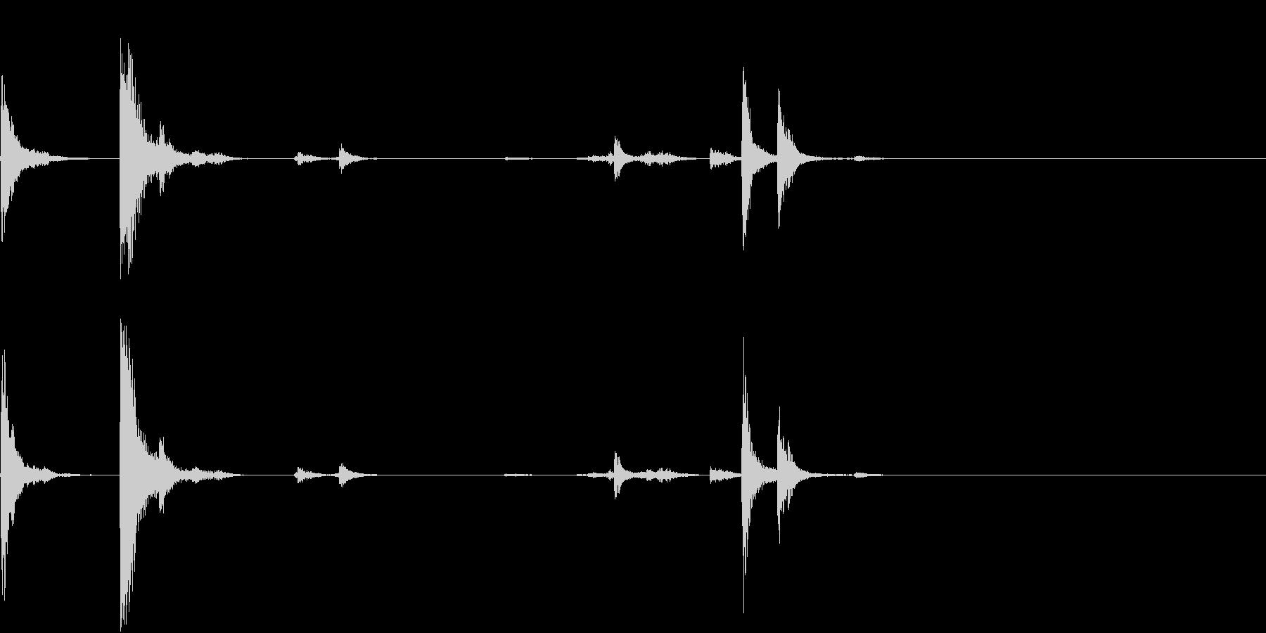 【生録音】猛獣を繋ぐような重厚な鎖の音3の未再生の波形