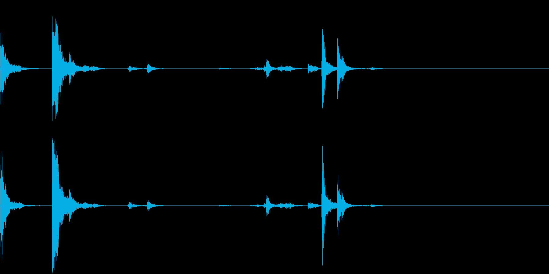 【生録音】猛獣を繋ぐような重厚な鎖の音3の再生済みの波形