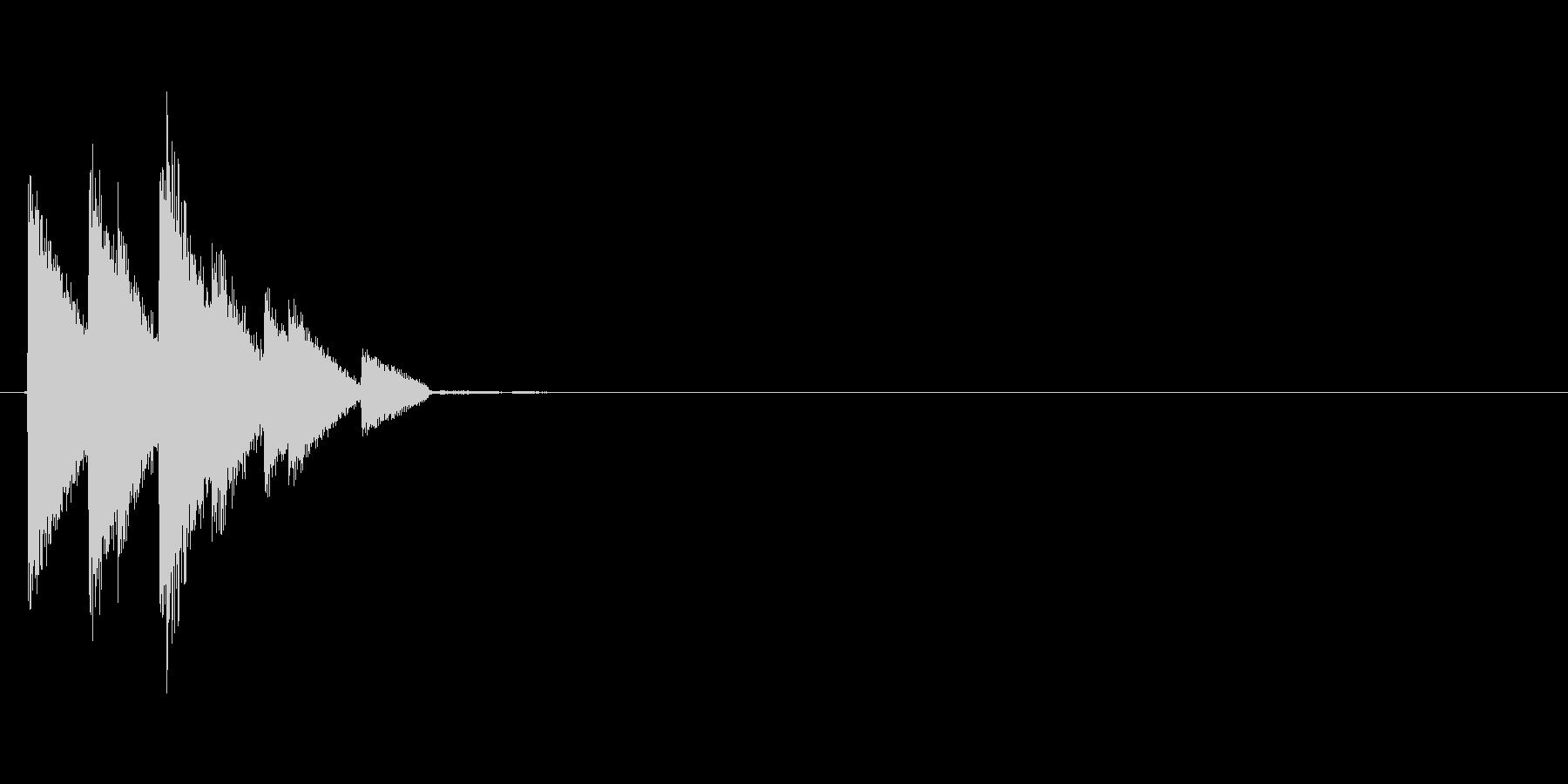 金属的なサウンドの決定音その3の未再生の波形