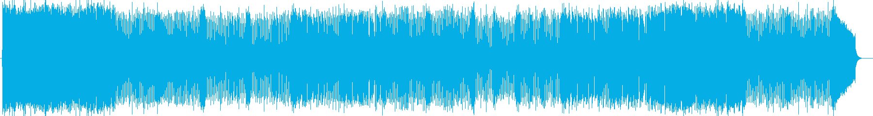 ゆったりとした華麗で壮大なオーケストラ曲の再生済みの波形