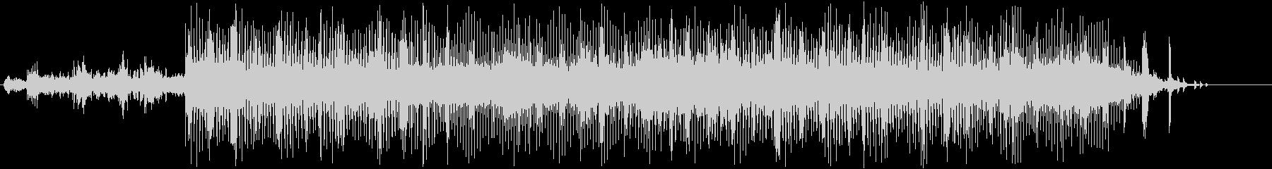 近未来的なテクスチャー楽曲(ピアノあり)の未再生の波形