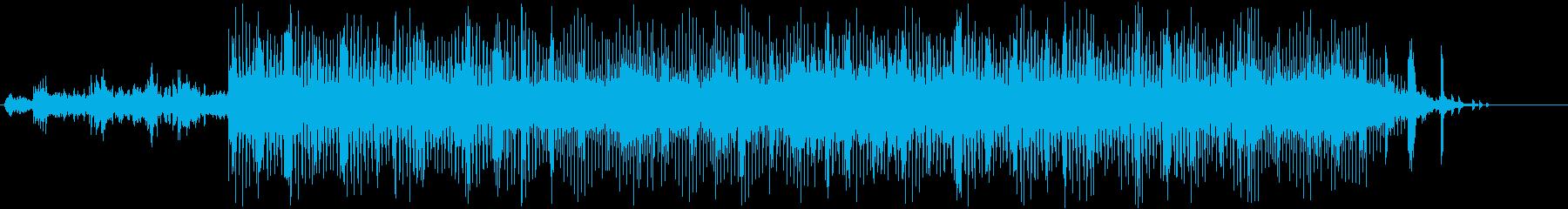 近未来的なテクスチャー楽曲(ピアノあり)の再生済みの波形