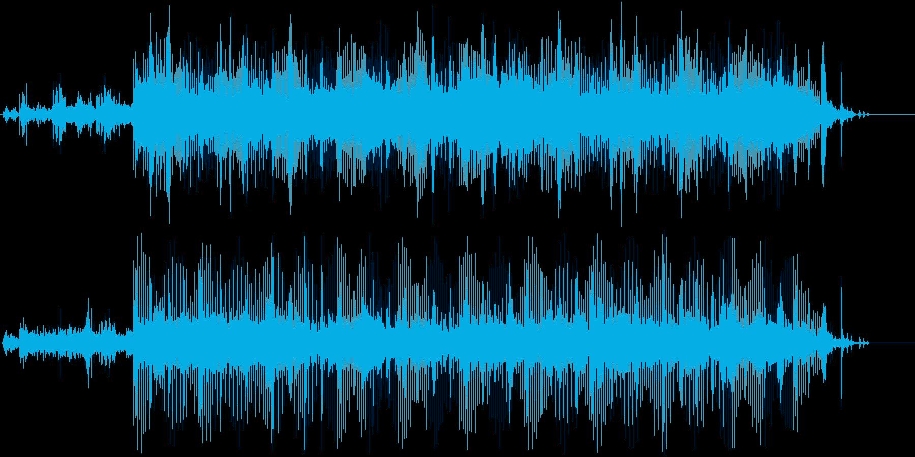 近未来的なテクスチャー楽曲の再生済みの波形