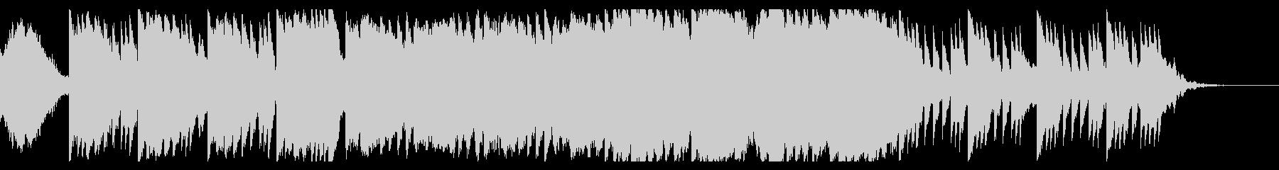 ホラー感を演出するBGMの未再生の波形