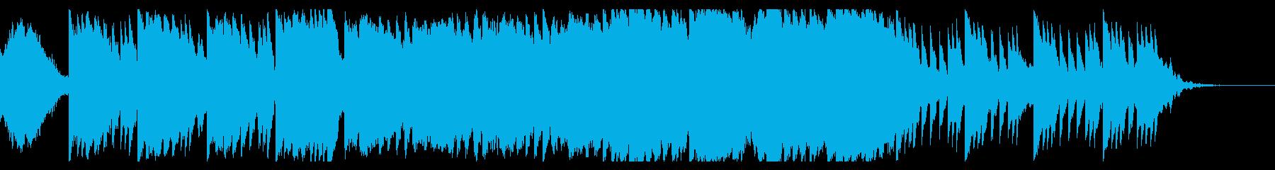 ホラー感を演出するBGMの再生済みの波形