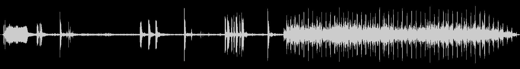 コピーを作るカラーレーザー複写機の未再生の波形
