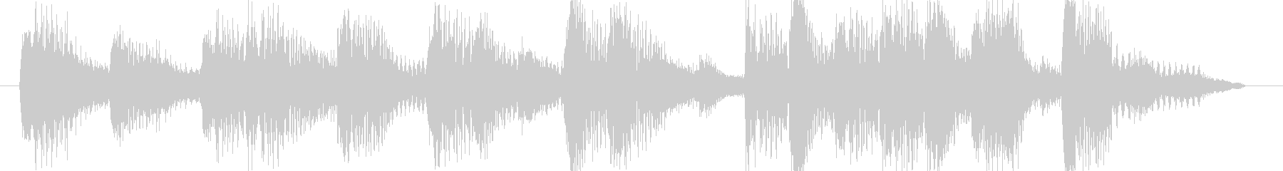 5秒ジングル音源テクノ系明るい曲調の未再生の波形