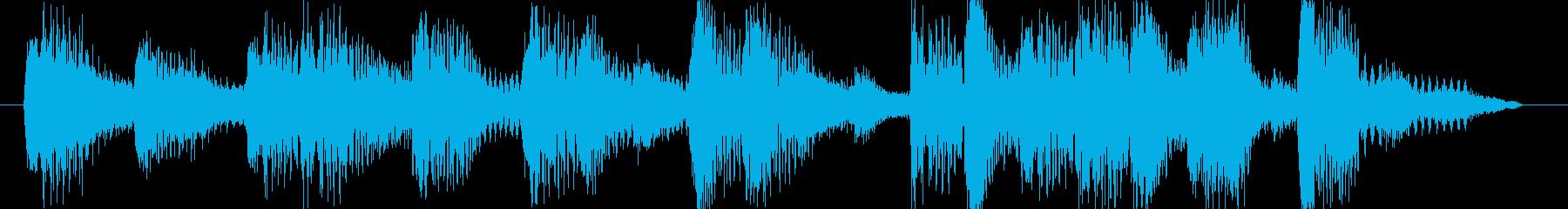 5秒ジングル音源テクノ系明るい曲調の再生済みの波形