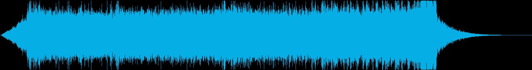 SFでシリアスなアンビエント、エレクトロの再生済みの波形