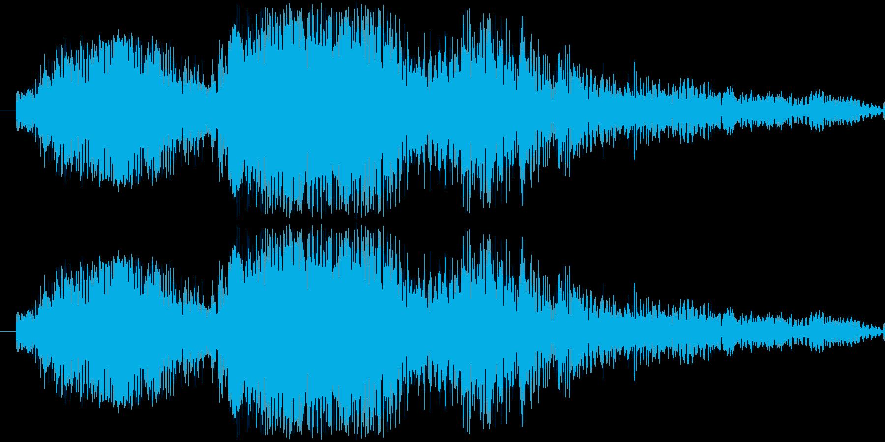 斬撃1【振り下ろす剣の斬撃】の再生済みの波形