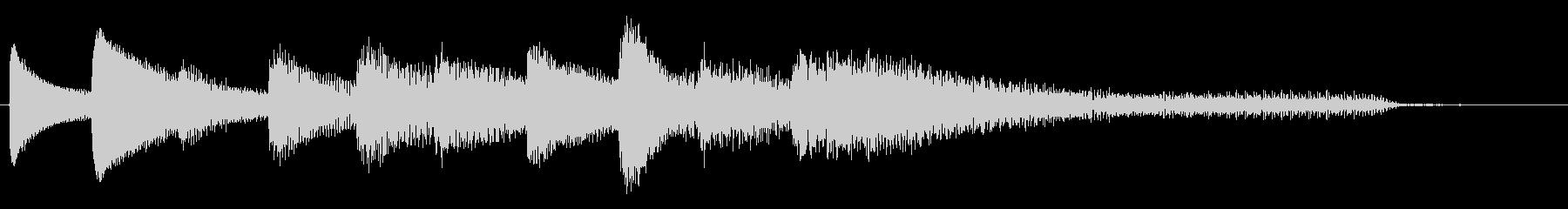 短いピアノサウンドロゴ_ジングル5秒の未再生の波形