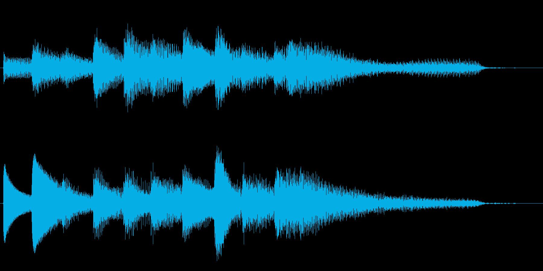 短いピアノサウンドロゴ_ジングル5秒の再生済みの波形