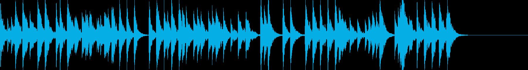 「スカボローフェア」オルゴールbpm76の再生済みの波形