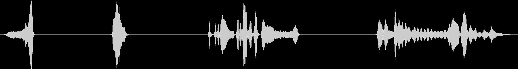 ハーモニカ、4バージョン、楽器; ...の未再生の波形