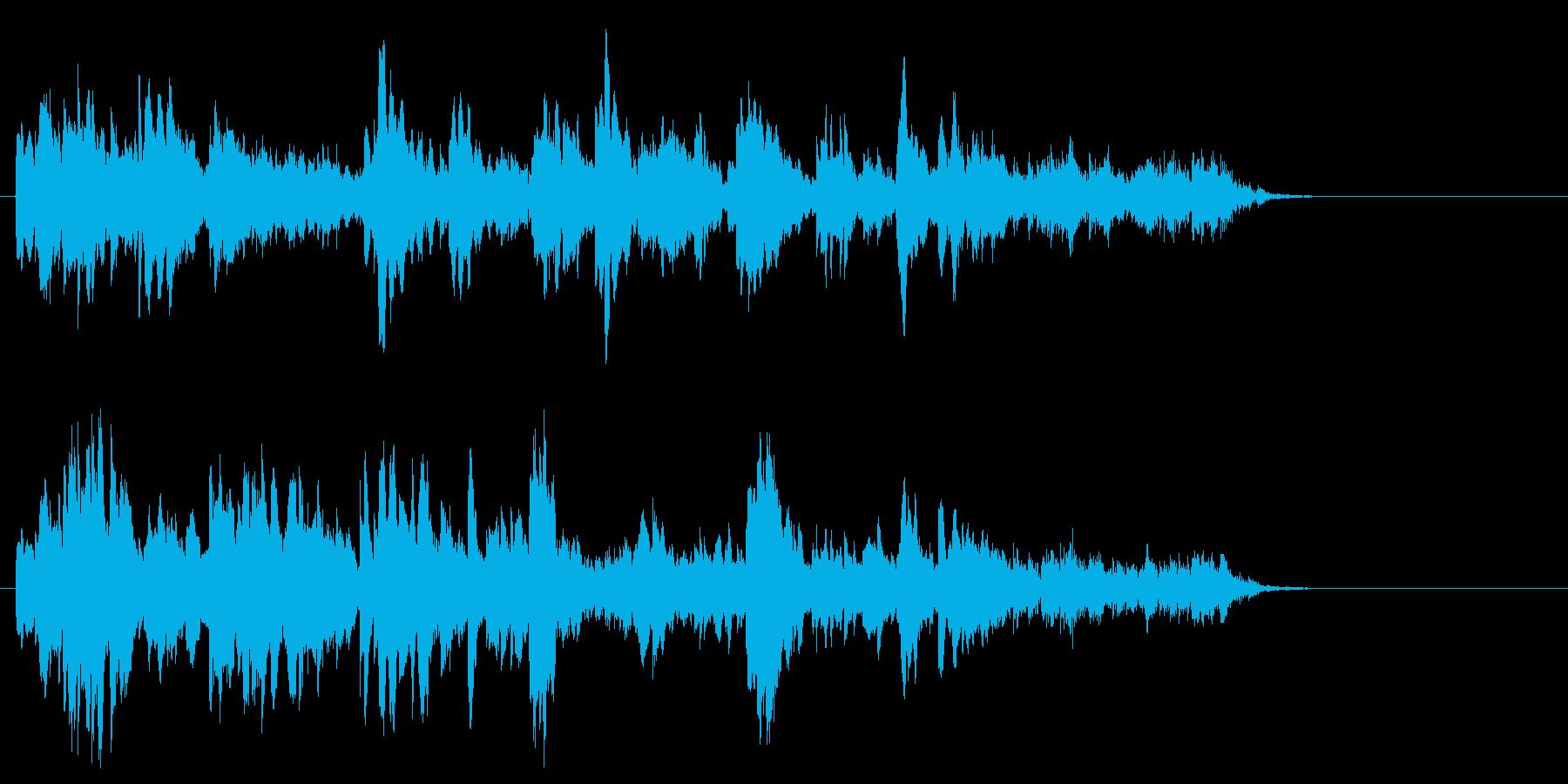 ガラスの様な音質フレーズの再生済みの波形