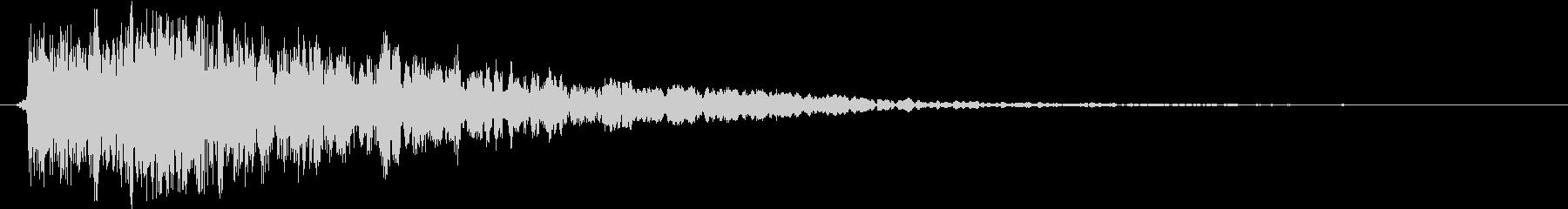 衝撃 ヒットメタル22の未再生の波形