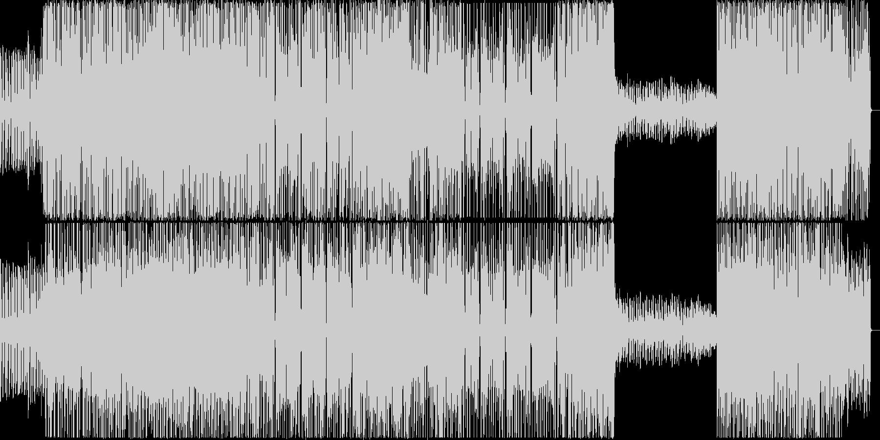 ロック×テクノ ビートと疾走感溢れる曲の未再生の波形