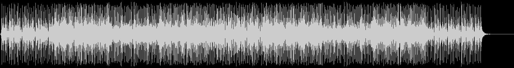 三味線のアップテンポでクールなシーン向けの未再生の波形