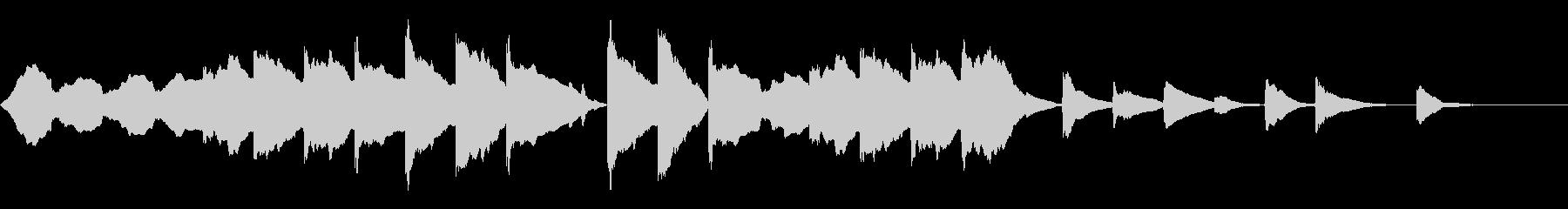 木管と木琴ののどかなイメージの曲の未再生の波形