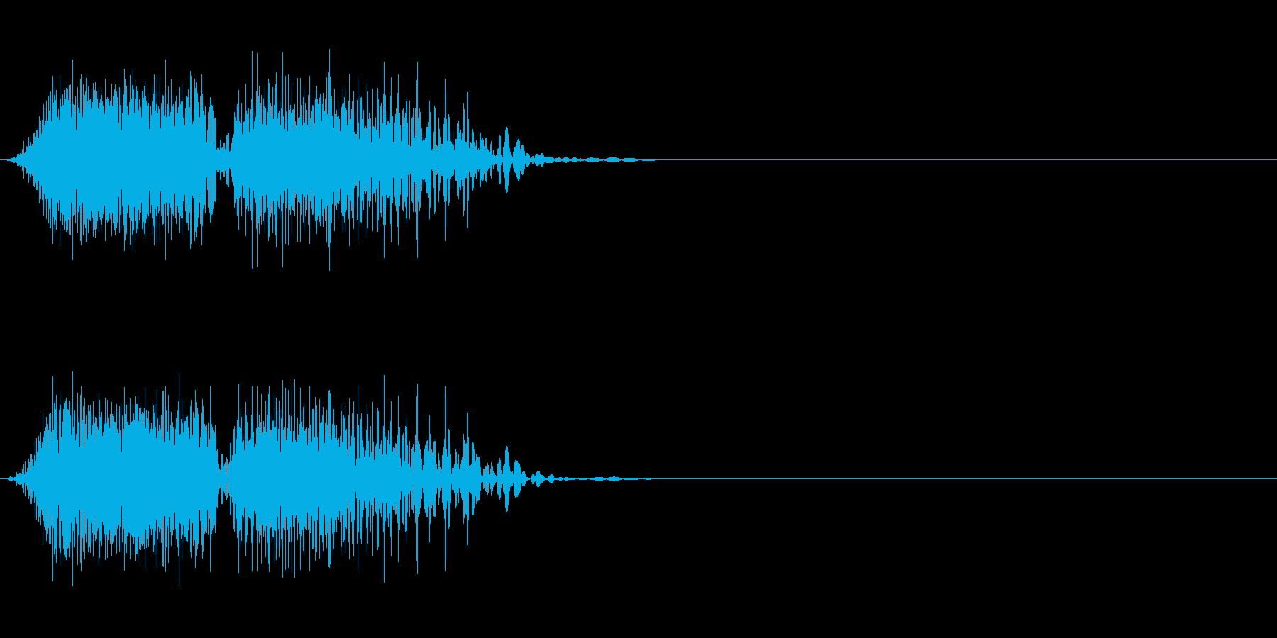 DJスクラッチ06_ワンショット01の再生済みの波形