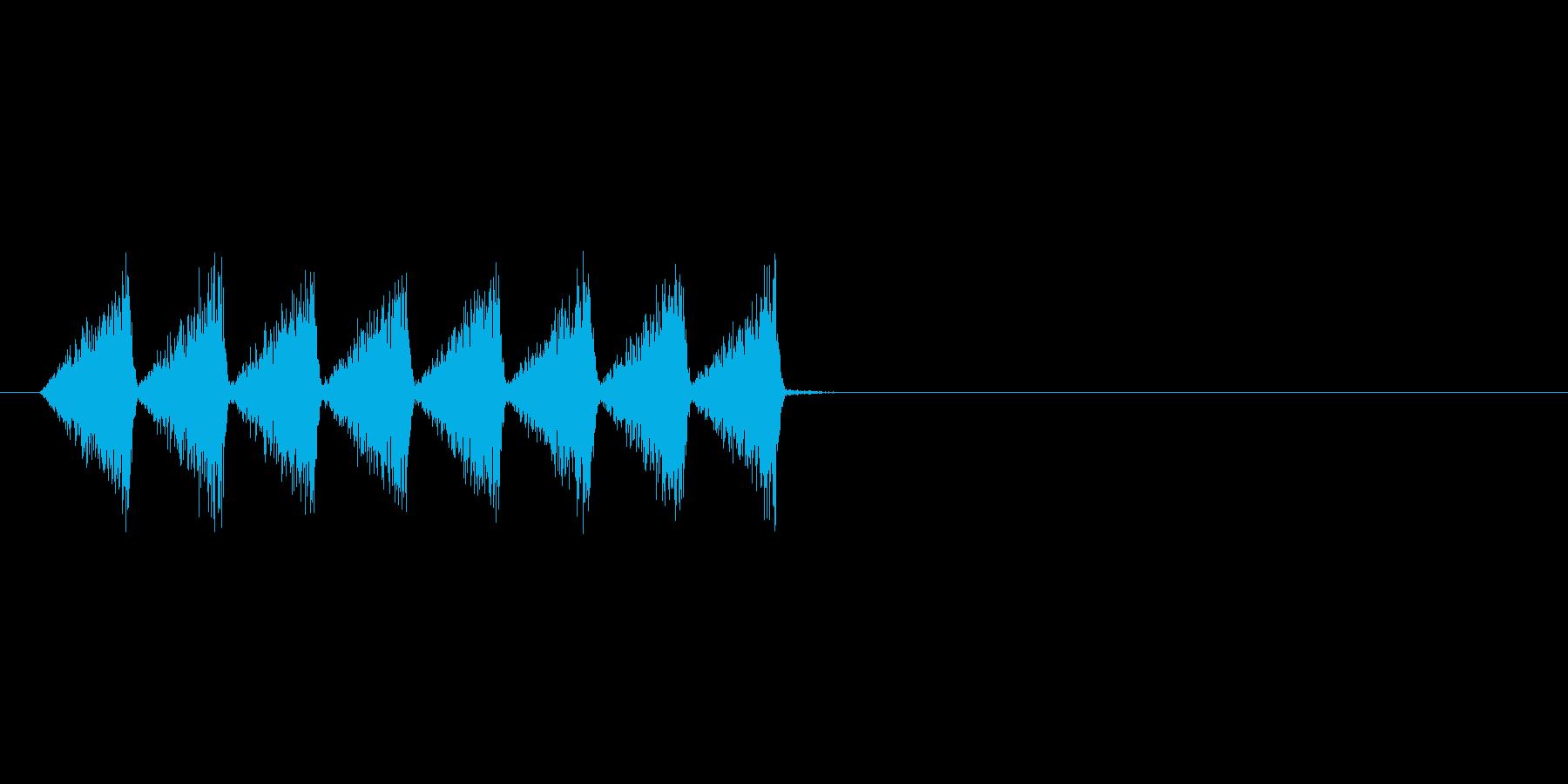 カサカサ(虫、素早く移動、動作)の再生済みの波形