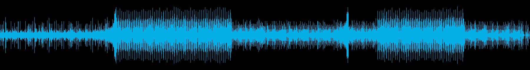サスペンス調の疑念系BGMの再生済みの波形
