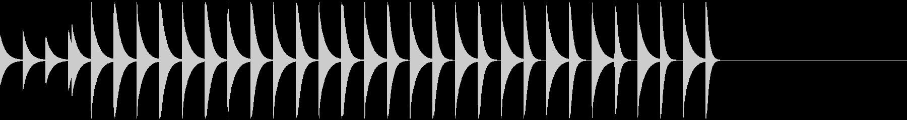 ポコポコ/スクロール/アイキャッチ/1の未再生の波形