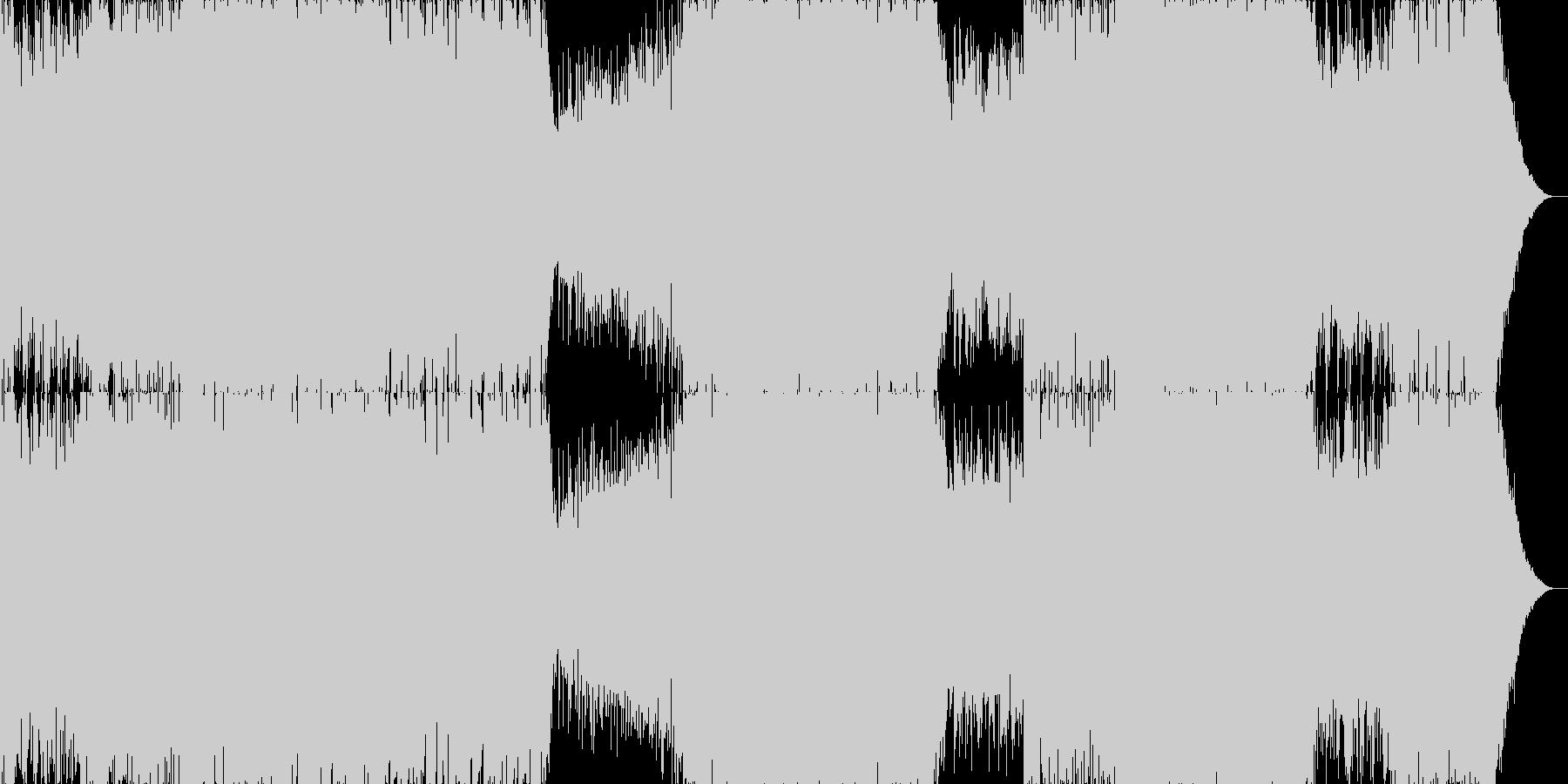 ピアノがメインのドラムンベースの未再生の波形