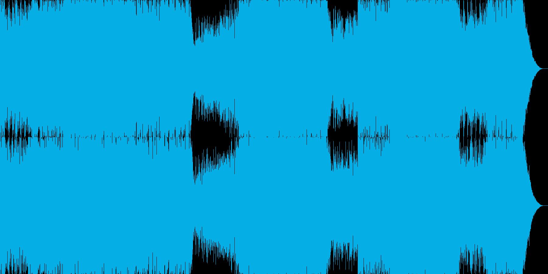 ピアノがメインのドラムンベースの再生済みの波形