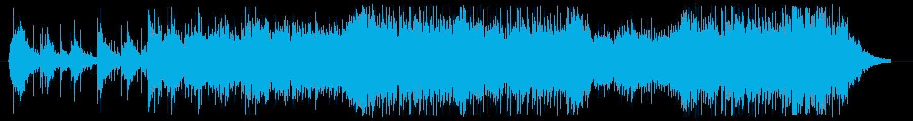 アップテンポで軽快なミュージックの再生済みの波形