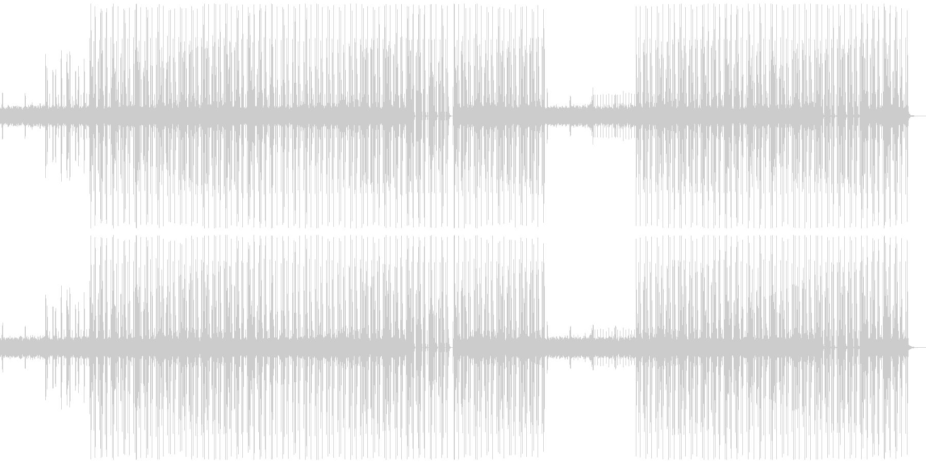 90年代テクノポップBGMの未再生の波形