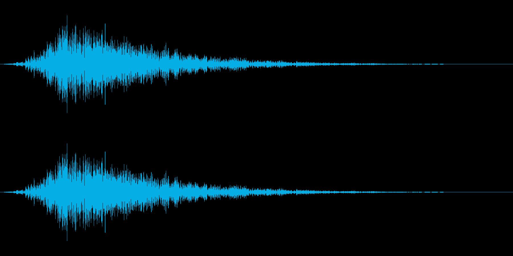低音のロール音_サンダーボルトの再生済みの波形