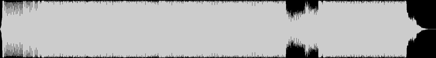 クールなシンセとピアノの四つ打ちトランスの未再生の波形