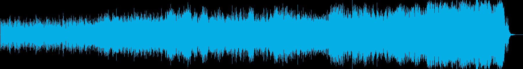 オーケストラ楽器。渦巻く文字列は「...の再生済みの波形