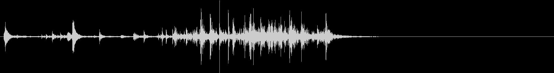 【生録音】食べ物を噛む音 1 ガブリの未再生の波形