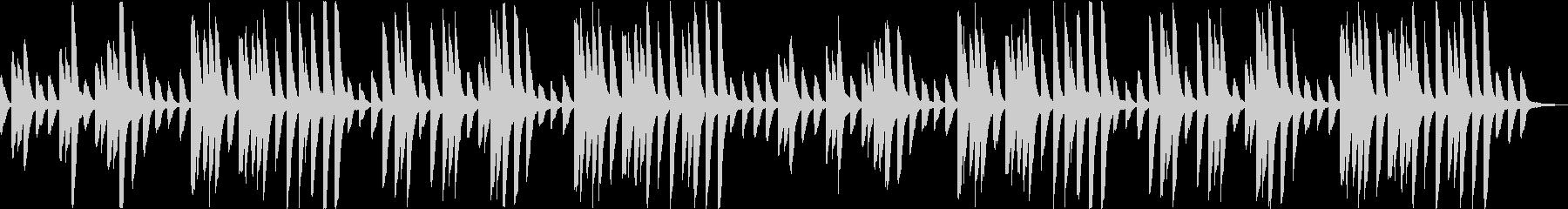 ビブラフォンの旋律が印象的なインストの未再生の波形