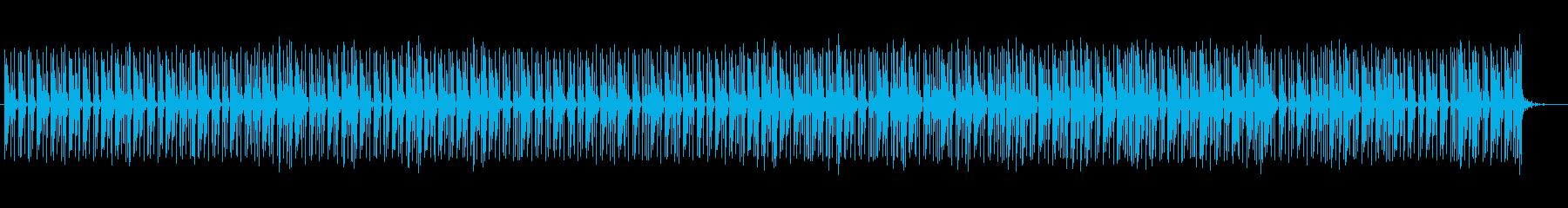 ほのぼのした雰囲気の民族音楽の再生済みの波形