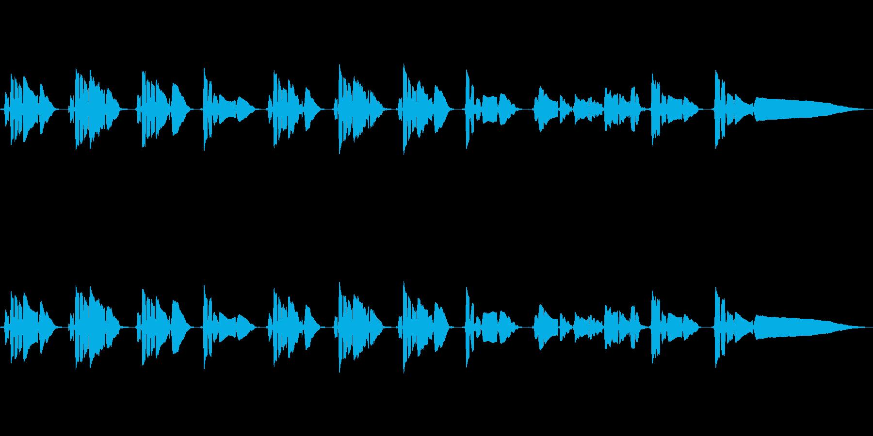 サックス1本の曲です。の再生済みの波形