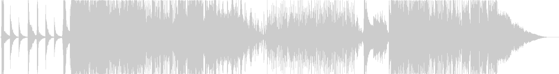 和楽器と重低音サウンドのお祭りロックの未再生の波形
