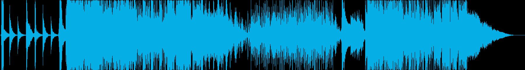 和楽器と重低音サウンドのお祭りロックの再生済みの波形