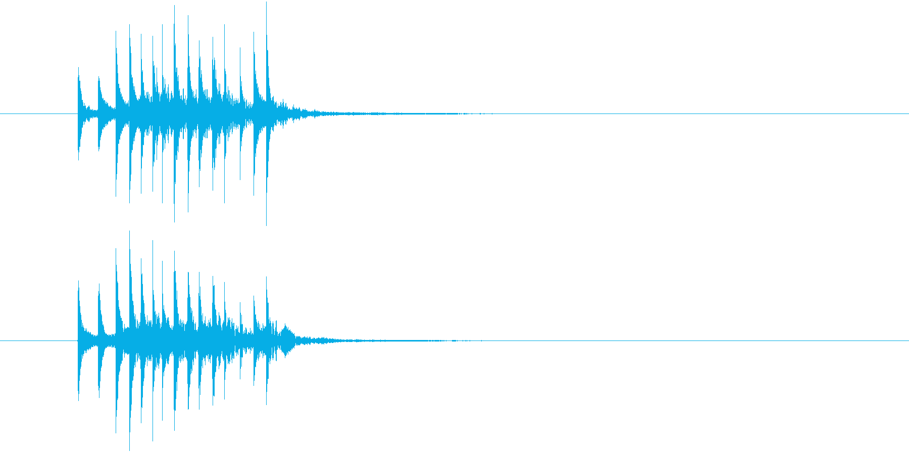 場面展開1(シロフォン)の再生済みの波形