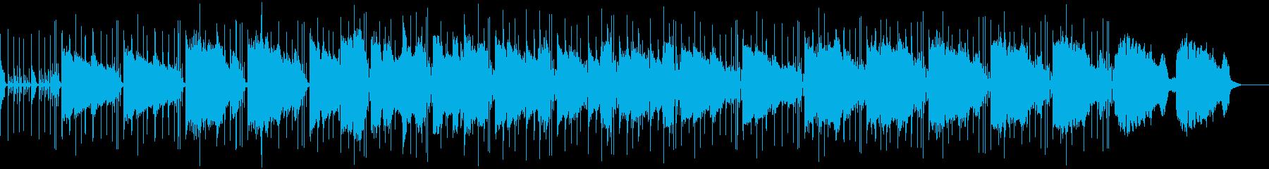 ブルーなジャズのBGMの再生済みの波形