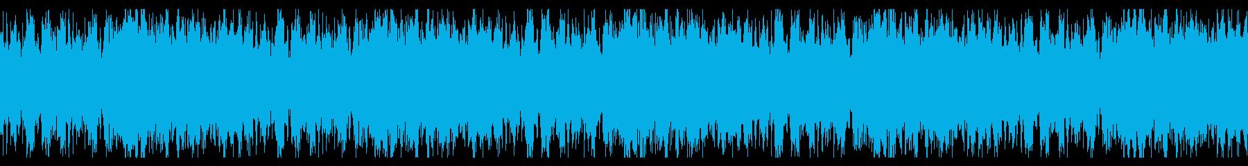 バトルゲーム向け、伸びやかなオーケストラの再生済みの波形