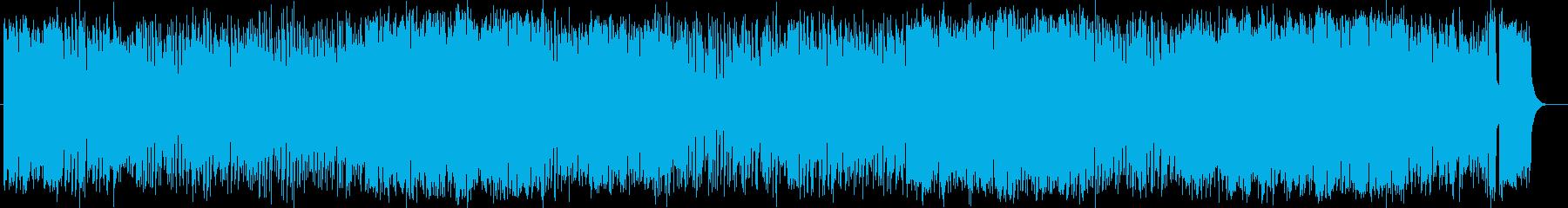 疾走感のある明るいミュージックの再生済みの波形