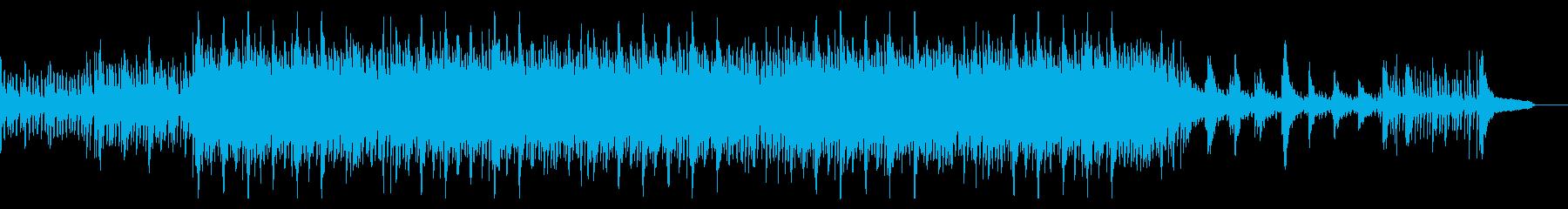 ダークなオーケストラの砂漠面ボス戦闘曲の再生済みの波形