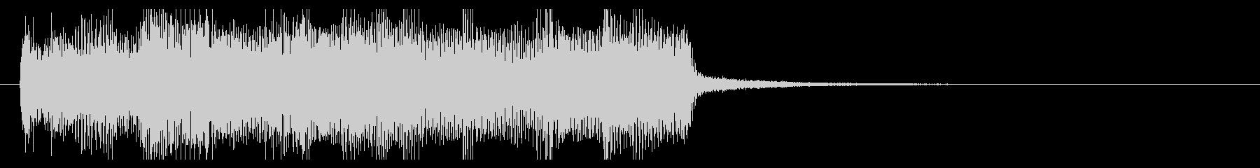 重低音が効いたロック ジングルの未再生の波形